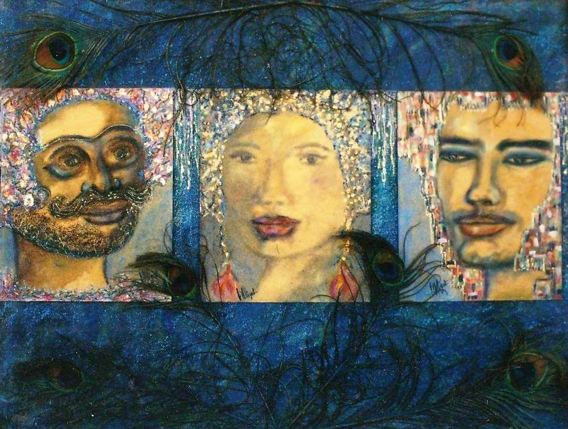 Esprits de légendes avec Dame Kakey, Garuda et le Roi, par Vinca Migot