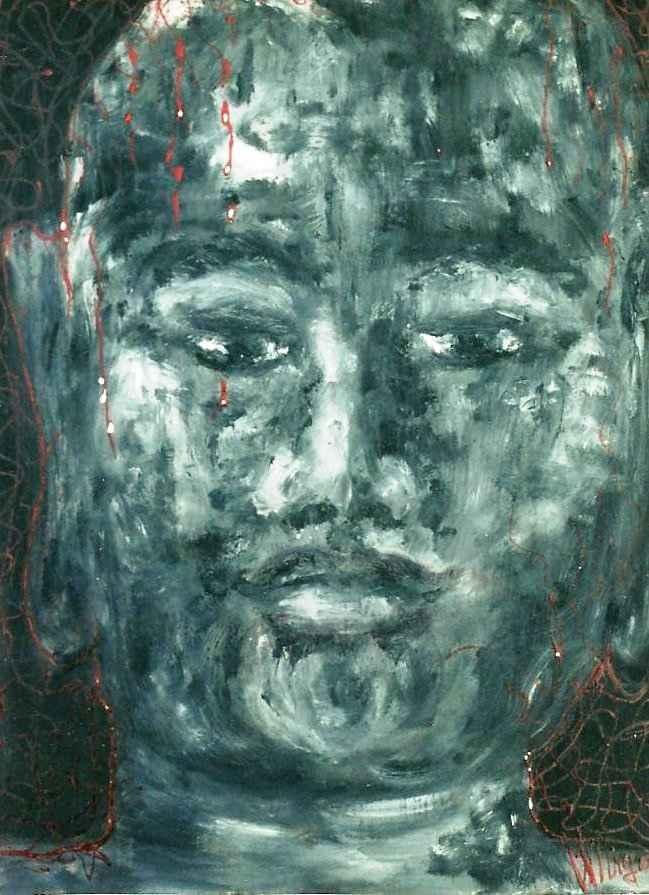 Buddha de l'harmonie des énergies n°1 par Vinca Migot