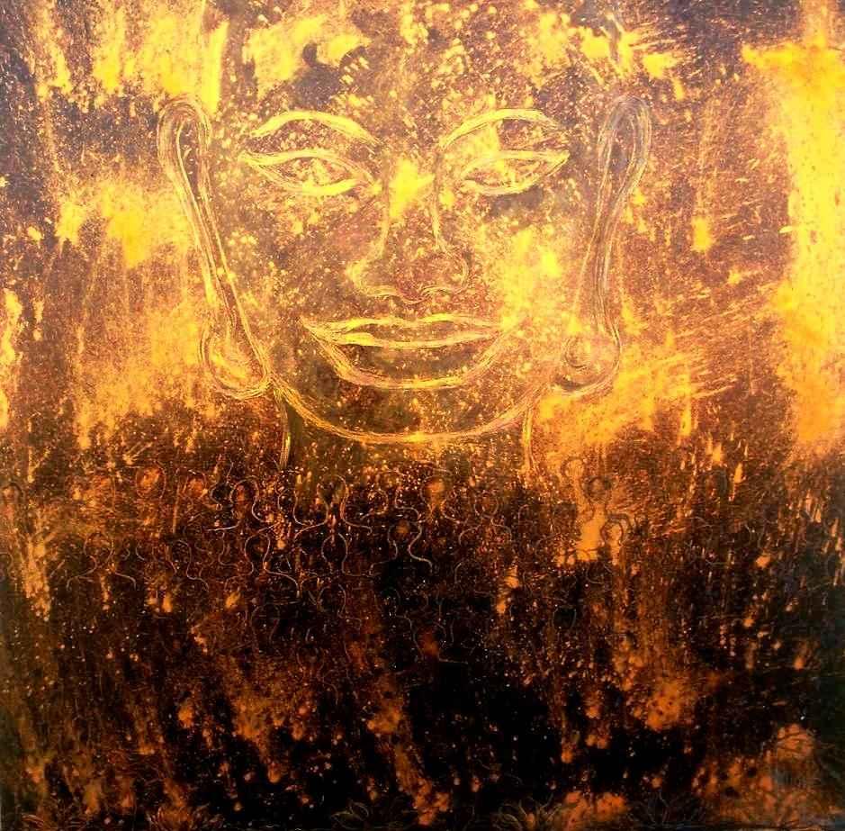 Buddha de réconciliation n°1 par Vinca Migot