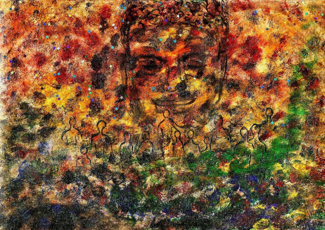 Buddha de réconciliation n°2 par Vinca Migot