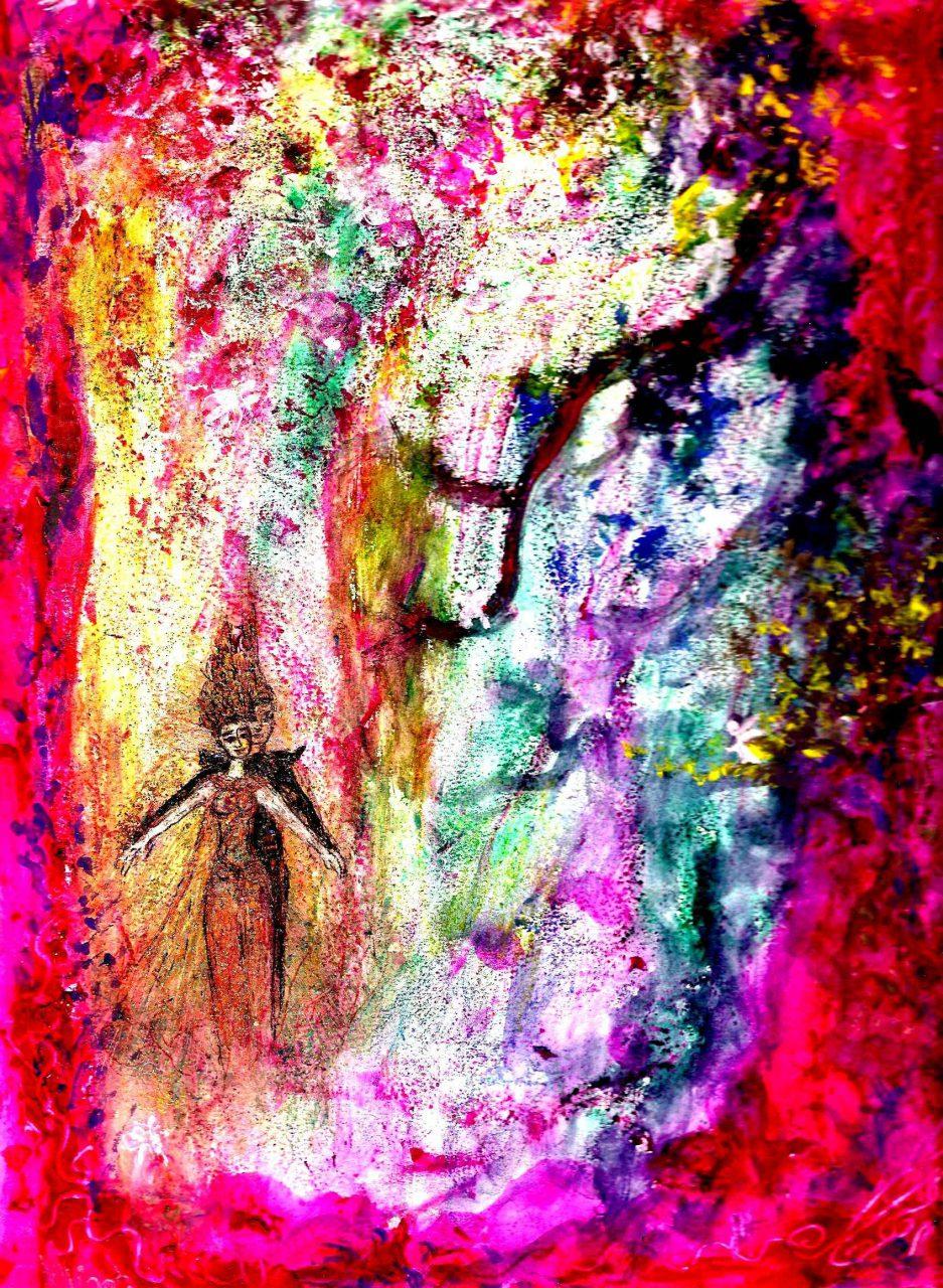 Ràma et Sità dans la forêt de Dandaka par Vinca Migot