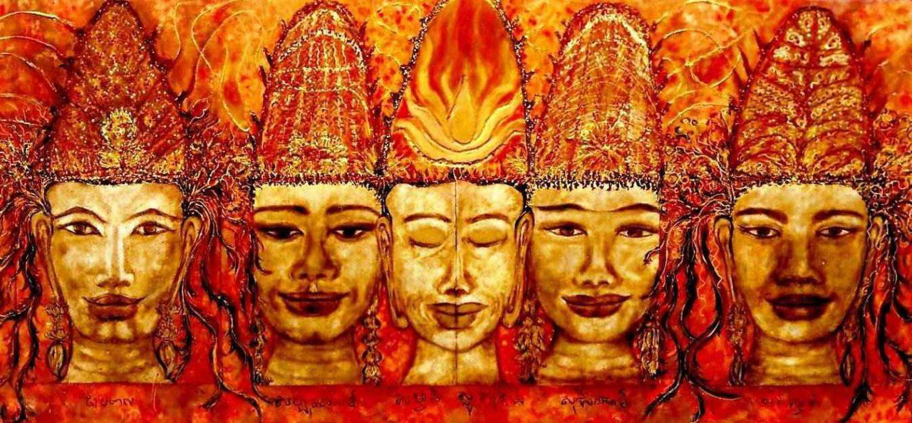 Palanquin des cinq tours d'Angkor Watt par Vinca Migot
