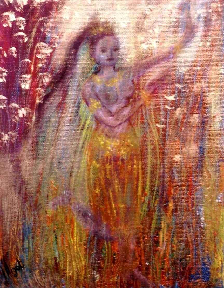 Apsara de bois - Apsara de la danse des jeunes pousses par Vinca Migot