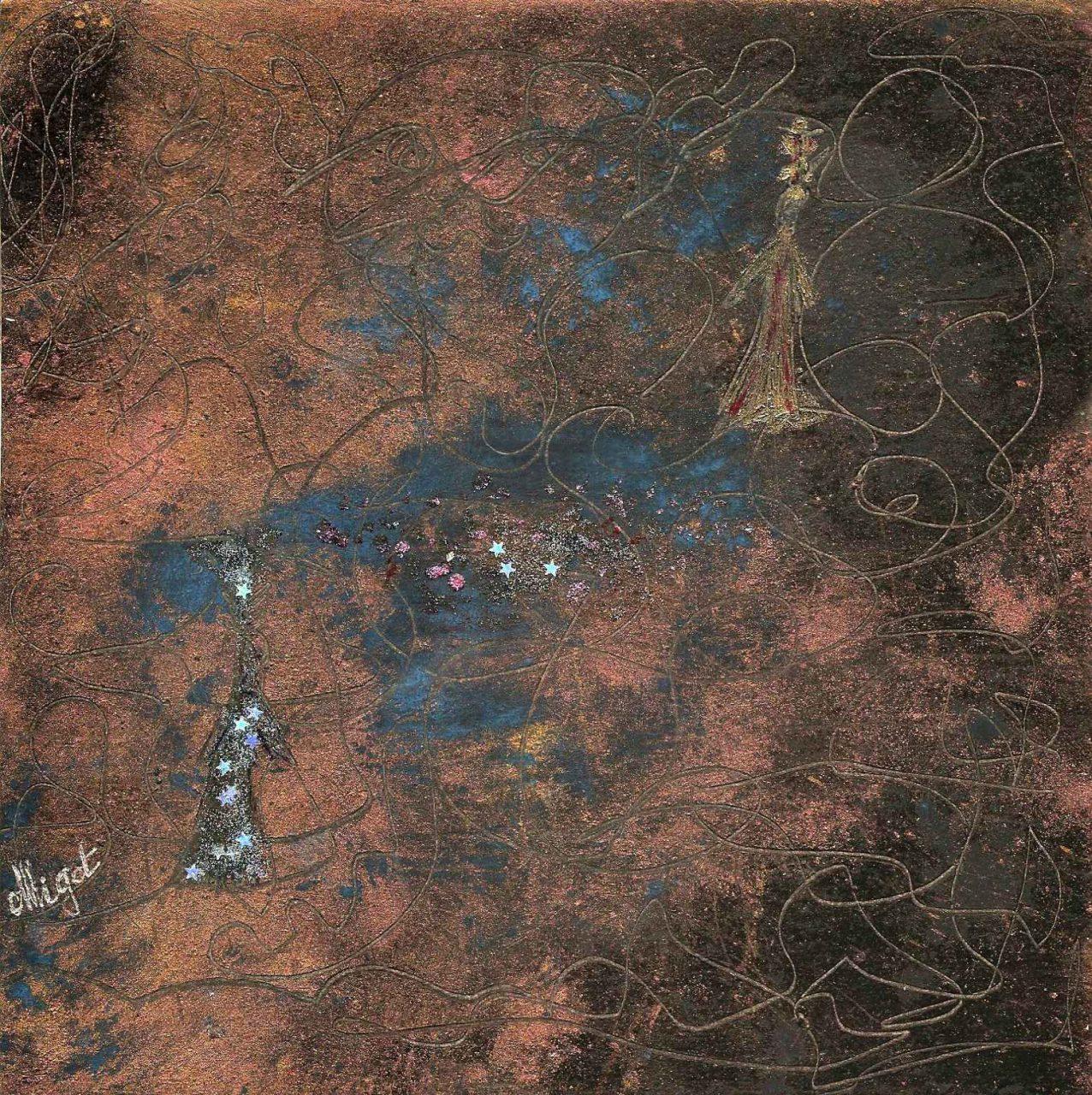 Labyrinthe de la Cité dans la nuit par Vinca Migot