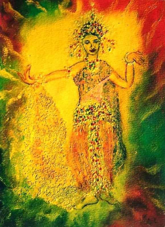 Apsara de feu - Apsara de la porte du soleil par Vinca Migot