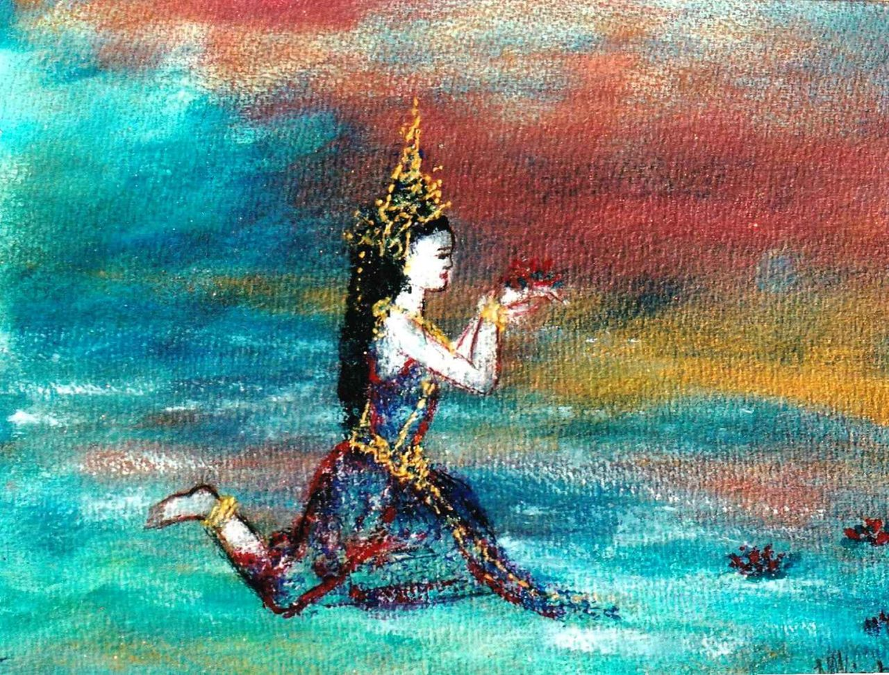 Apsara d'eau - Apsara de l'océan des génies par Vinca Migot