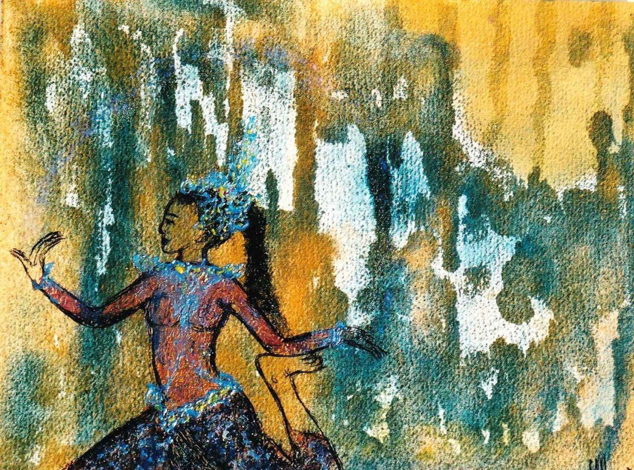 Apsara d'eau - Apsara de la source de vie par Vinca Migot