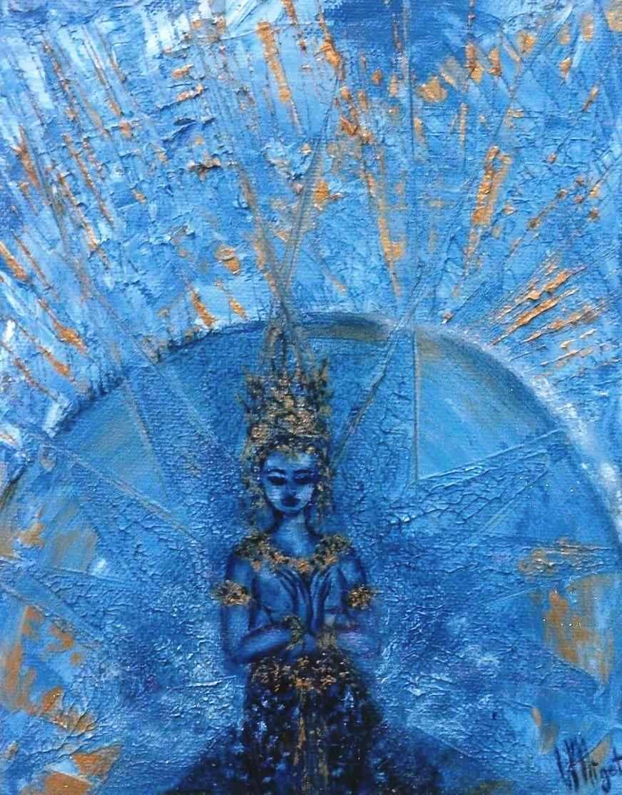 Apsara de métal - Apsara du scintillement des étoiles par Vinca Migot