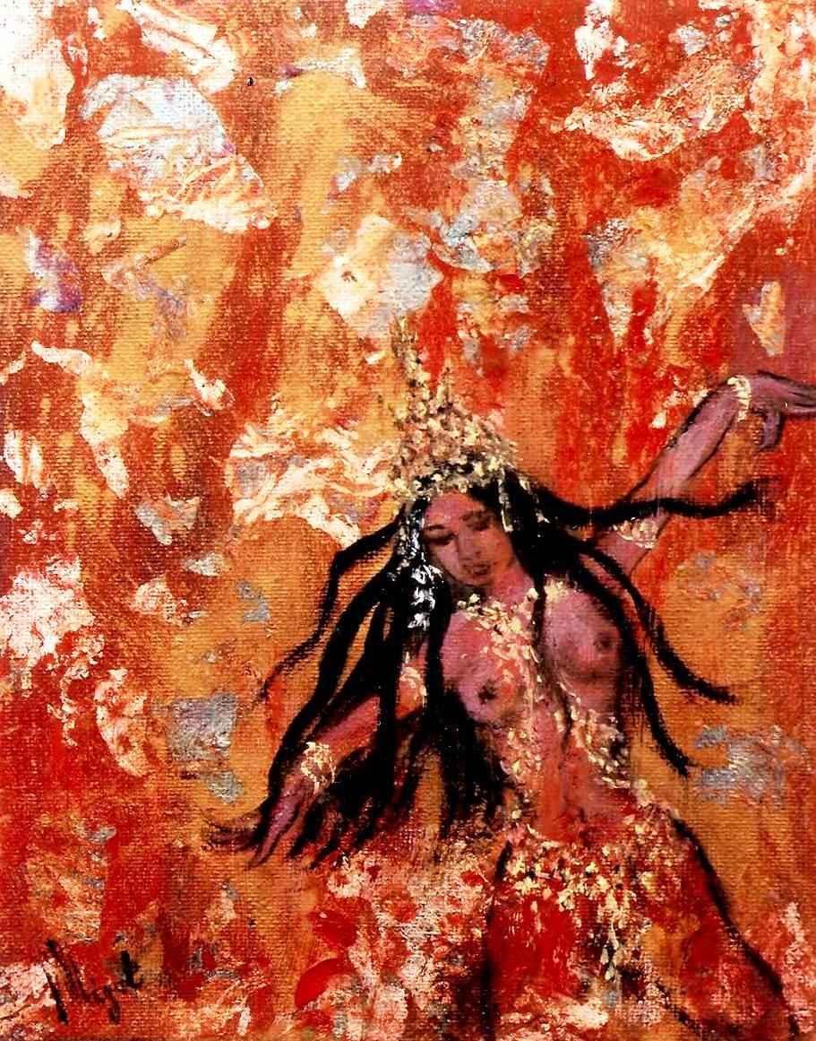 Apsara de feu - Apsara du jardin du centre de la terre par Vinca Migot