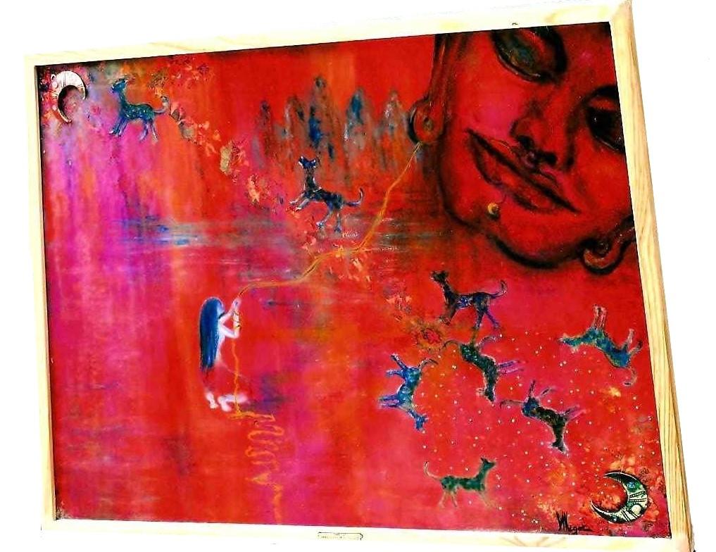 L'année du chien (toile galbée) par Vinca Migot