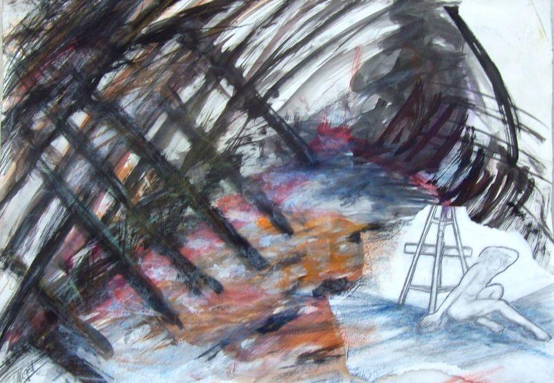 Hommage à l'Atelier - Croix de Bois, croix de fer... / Tribute to the workshop - Cross my heart par Vinca Migot