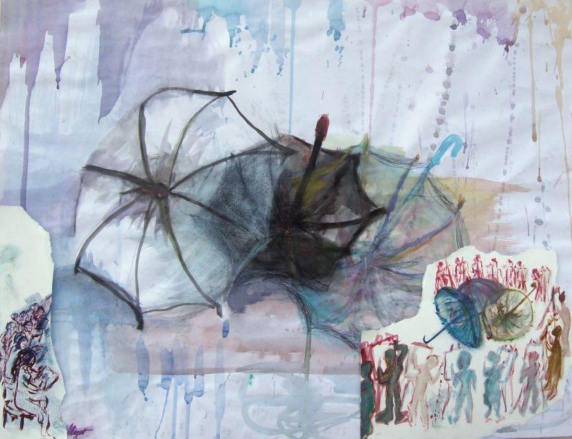 Hommage à l'Atelier - Jour de pluie / Tribute to the workshop - Rainy day par Vinca Migot