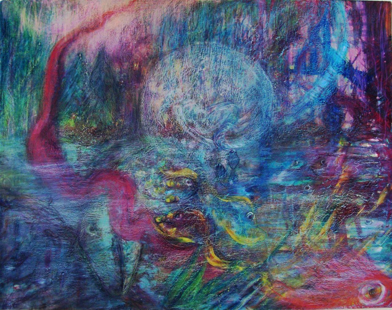 Rêveuse au Serpent à Plumes / Dreamer of Feathered Snake par Vinca Migot