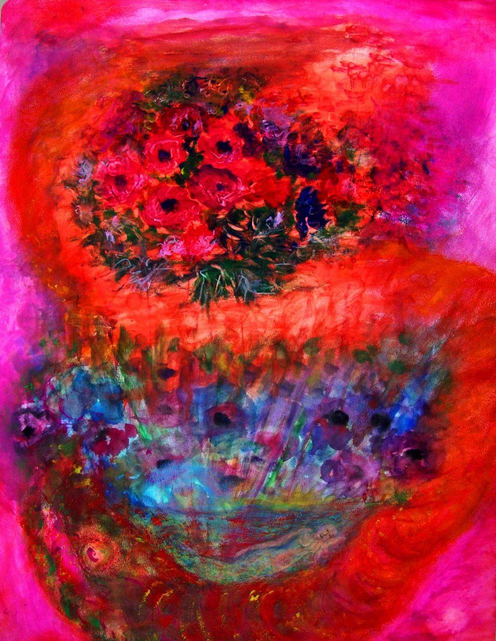Rêveuse aux anémones / Dreamer with windflowers par Vinca Migot