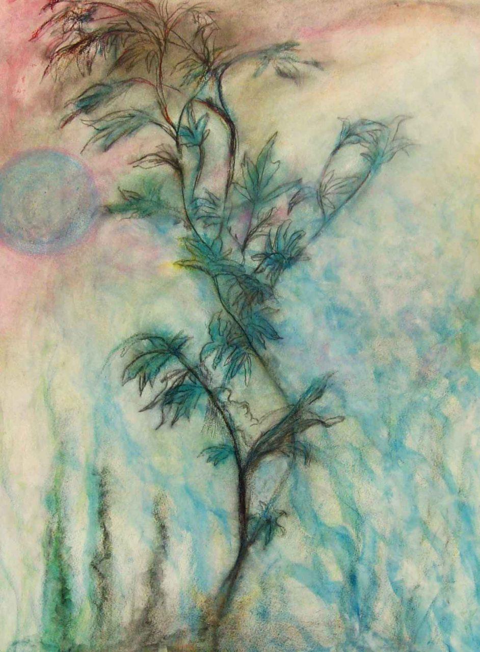 Rêveuse à la lune bleue / Dreamer of blue moon par Vinca Migot