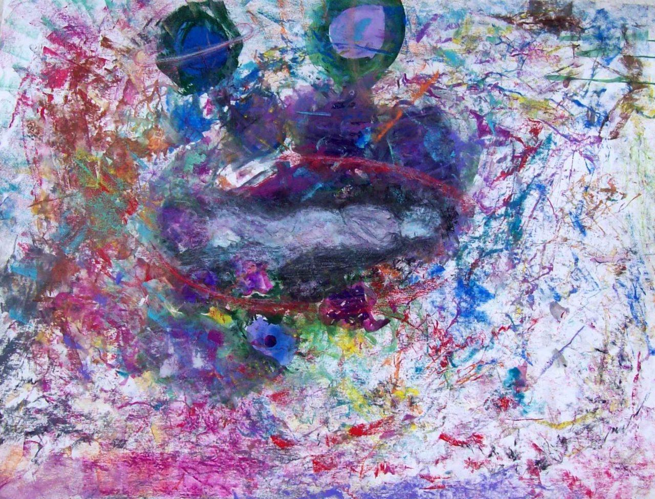 Rêveuse au trou noir / Dreamer of black hole par Vinca Migot