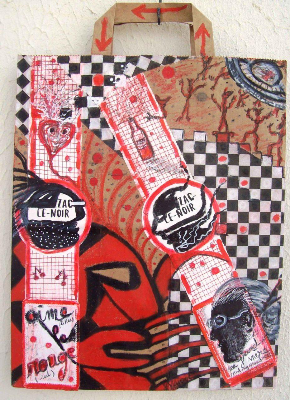 Zac le Noir... aime le rouge / likes red par Vinca Migot