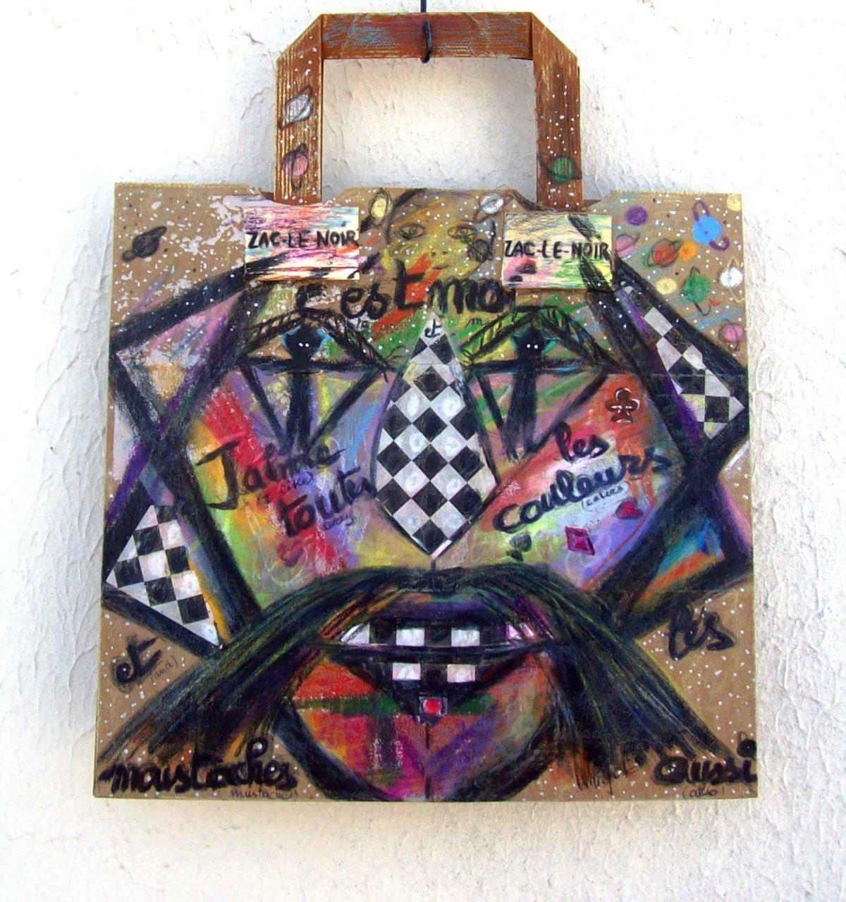 Zac le Noir... aime toutes les couleurs / likes any color par Vinca Migot