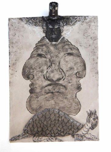 Celestial Black Turtle Snake - Longevity, Prosperity par Vinca Migot