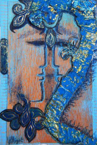 Ryû - Blue king wood dragon protecting the East par Vinca Migot