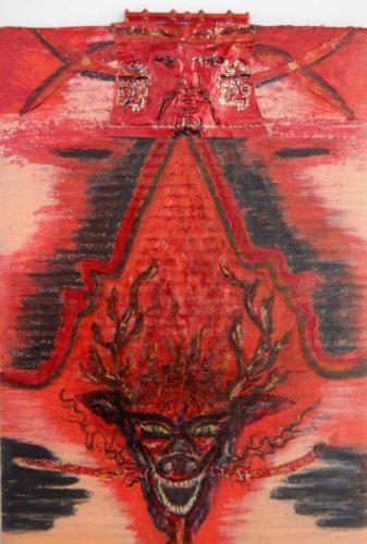 Ryû - Red king fire dragon protecting the South par Vinca Migot