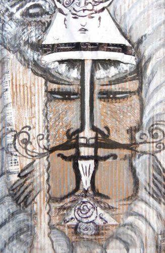 Ryû - White king metal dragon protecting the West par Vinca Migot