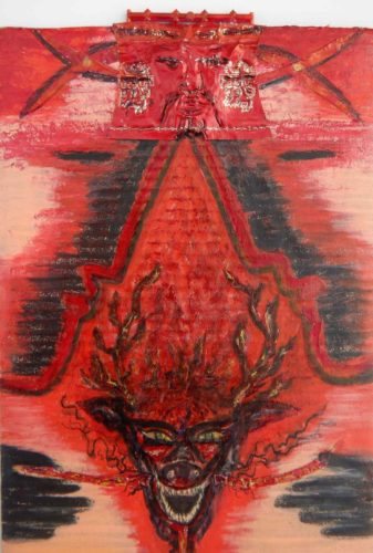 Ryû - Red king fire dragon protecting the South par Vinca Migot