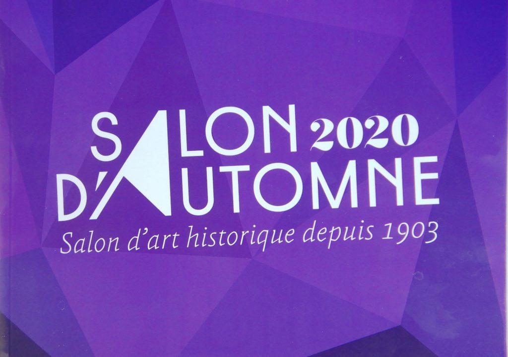 Affiche du salon d'Automne, édition 2020, à motifs géométriques et en teinte violette.