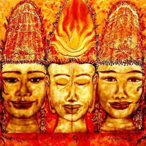 Palanquin des 5 Tours d'Angkor Watt par Vinca Migot