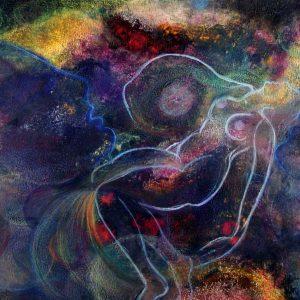Rêveuse au creux de l'Univers / Dreamer within the hollow of the Universe par Vinca Migot